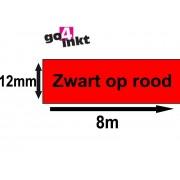 Lettertape TZE-431 12mm Zwart-Rood Huismerk