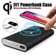 Baterie Externa Wireless 10000 mAh negru, pentru iPhone 8, X, Samsung Galaxy S6/