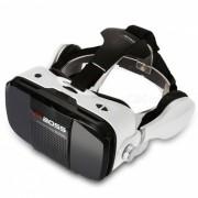 KICCY VR BOSS Gafas 3D de Realidad Virtual con Auriculares - Blanco + Negro