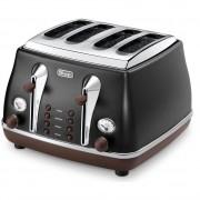 DeLonghi Icona Vintage 4 Slice Toaster - Icona Vintage Storica Black
