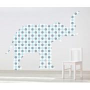 Sticker decorativ Giant Elephant pentru baietei - 121 x 96 cm