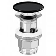 Villeroy & Boch Villeroy en boch push open design afvoerplug 11/4 keramische afdekking zwart 8l0334s0