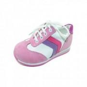 Pantofi din piele pentru fete EFOR EFR1 Roz 31