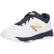 New Balance Women's Velo V1 Turf Softball Shoe, navy/white, 11 D US