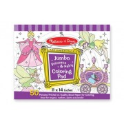 Princess & Fairy Jumbo Colouring Pad of 50 by Melissa & Doug