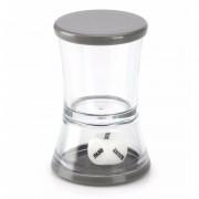 Merkloos Drankspel/drinkspel shotglas met dobbelsteen