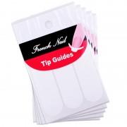 Koop 5 Vellen Europa Franse Nail Sticker Witte Valse Nagel Art Decal Tips Manicure Tips Ronde Vorm Fringe Gidsen Nail Sticker Beau Gel