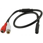 NTR MIC03 Mikrofon CCTV kamerához (RCA audio aljzat és DC 5,5x2,1mm táp aljzat)