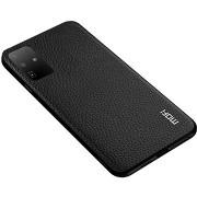 MoFi Litchi PU Leather Case Samsung Galaxy S20 Ultra 5G, fekete
