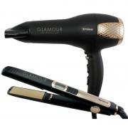 Uscator de par Trisa Glamour Profesional 2200W + Placa 45W Neagra