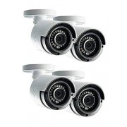 Lorex LAB243B 4MP 2K HD Analog Bullet Security Camera 4-Pack