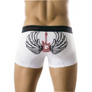 Clever Flying Guitar Boxer Brief White Underwear 0176 USA1