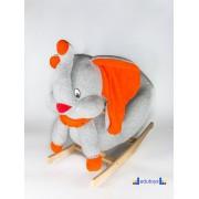 Njihalica ljuljaška SLON - sivo narandžasta