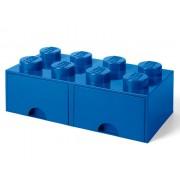 40061731 Cutie depozitare LEGO 2x4 cu sertare, albastru