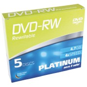 PTM 102570 - DVD-RW 4,7 GB, 5-Pack SlimCase