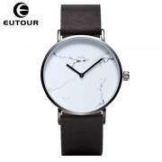 EUTOUR Ultra thin Classic Marble Watches Quartz women Clock leather Casual Fashion Wristwatch montre femme Relogios Feminino