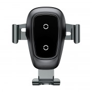 BASEUS Wireless Charging Car-mounting Holder for iPhone X/8/Galaxy S9/S8 Etc (Not Support FOD Function) - Black