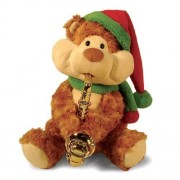 12 Inch Christmas Cheeks Animated Plush Teddy Bear Stuffed Animal