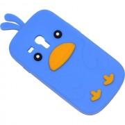 Maxy Custodia Bird In Silicone Morbito Samsung Galaxy S3 Mini I8190 - Ve I8200 Blu