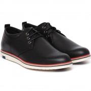 Pantofi barbati Andres cu perforatii, Negru 45