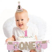 Little Cowgirl - 1st Birthday Girl Smash Cake Decorating Kit - High Chair Decorations