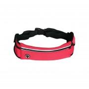 27.5CM WP1 Resistente A La Intemperie Cintura Fanny Pack Bolsa De La Cadera Bolsa Para El Hombre Mujer Deportes Al Aire Libre Viajes Correr Senderismo Para Teléfonos Celulares De 6,3 Pulgadas (Rose Red)