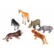 6 delige speelset plastic savannah dieren