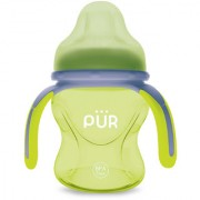 Pur Multi Grasp Drinking Cup 5 oz/150 ml Green and Grey