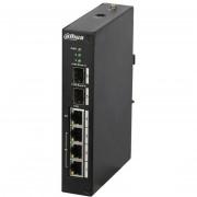 Switch 4 porturi PoE Dahua PFS4206-4P-96 cu management, 2 porturi gigabit prin FO, 96W, Hi-PoE (Dahua)