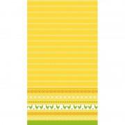 Duni Pasen tafelkleed/tafellaken kippen geel/oranje 138 x 220 cm
