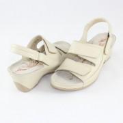 Sandale medicinale Dr. Batz - Beige, din piele naturală