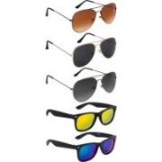 NuVew Aviator, Wayfarer Sunglasses(Black, Blue, Brown, Grey, Golden, Green, Violet)