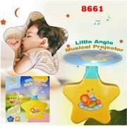 Vibgyor VibesNew Born Toy – Little Angel Baby Sleep Star Projector with Star Light Show and Music for Kids- Pack of 1. Multi Color