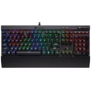 Tastatura Gaming Mecanica Corsair K70 Rapidfire, Cherry MX Speed RGB, Layout US (Negru)