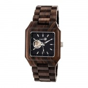 Earth Wood Black Rock Automatic Bracelet Watch - Dark Brown ETHEW4402
