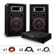 "Electronic-Star DJ PA Set ""DJ-12"" комплект усилвател и тонколони (PL-1180-2679)"