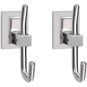 Doyours Stainless Steel Glossy Robe Hooks - 2 Pcs