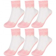 Women Embroidered socks by Treemoda (Pack of 6)