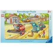 Puzzle Masinarii, 15 Piese Ravensburger