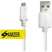 Universal Micro USB to USB 2.0 Data Sync and Charge Cable 1ft. White for Universal Micro USB to USB Cables (PACK OF 10)