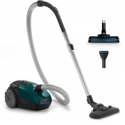 Aspirator cu sac Philips PowerGo FC8246/09, 750 W, Perie Turbo, Filtru Antialergic, Tub Telescopic, Verde