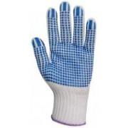 EP textilkesztyű csúszás ellen, kék pöttyös 10-es (GAN4376)
