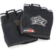 Knighthood Set Of 2 Half Hand Grip Gloves For Bike Motorcycle Scooter Riding large Black
