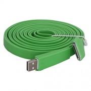 Platte USB kabel 30pin 3 meter groen