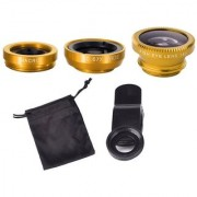 Universal Camera Lens Kit (Fisheye + 2in1 Wide angle and Macro Lens)