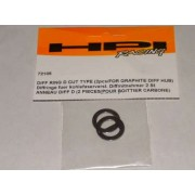 HPI 72105 Diff Rings D Cut for Graphite Hub Diffs