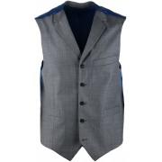 Suitable Weste Evans Grau - Blau Größe 52