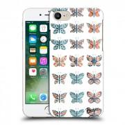 Átlátszó szilikon tok az alábbi mobiltelefonokra Apple iPhone 7 - Butterflies