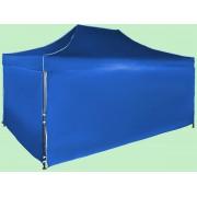 Gyorsan összecsukható sátor 3x4,5 m – acél, Kék, 4 oldalfal