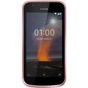 "Telefon Mobil Nokia 1, Procesor Quad Core 1.1 GHz, IPS 4.5"", 1GB RAM, 8GB Flash, 5MP, Wi-Fi, 4G, Dual Sim, Android (Rosu) + Cartela SIM Orange PrePay, 6 euro credit, 6 GB internet 4G, 2,000 minute nationale si internationale fix sau SMS nationale din care"